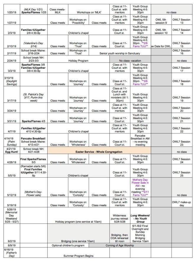 Year Long Calendar '18-'19pg2