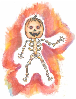 Halloween Jack O' Lantern drawing