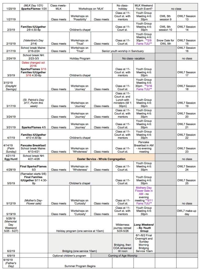 Year Long Calendar '18-'19 pg 2